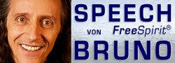 """Vortrag von Bruno: """"Wie Du Dich wirklich aus der Matrix befreist"""" Logo"""
